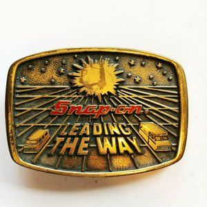Vintage 1988 Solid Brass Snap-On Tools Belt Buckle